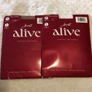 Hanes Alive PantyHose ( 2 Pack)